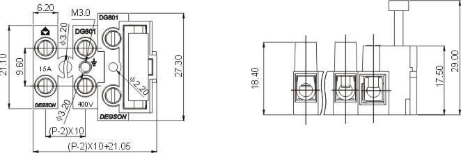 dg801 接线端子贯通式